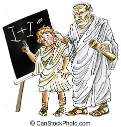 Ancient Roman Teacher and schoolboy - Ancient Roman Teacher...