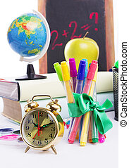 Time to go back to school - Some school stationary with...
