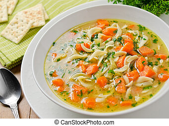 Chicken Noodle Soup - Hearty home made chicken noodle soup...
