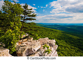 View from Annapolis Rocks, along the Appalachian Train on...