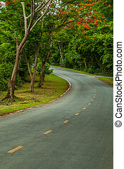 Road a mountain. - Road a mountain waterfall Erawan,...