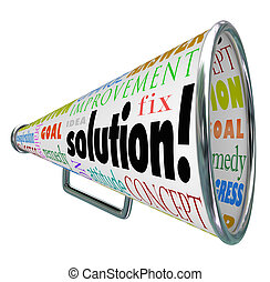 Solution Megaphone Bullhorn Spreading Answer to Problem -...
