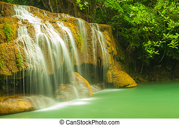Erawan level 2. - Erawan waterfall in Kanchanaburi, Thailand...