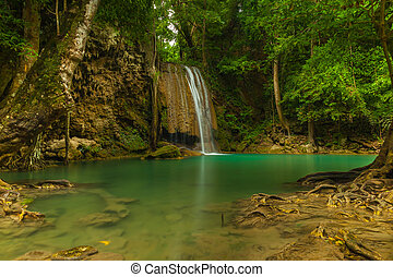 Erawan level 3. - Erawan waterfall in Kanchanaburi, Thailand...