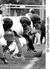 Football Line, black and white offensive