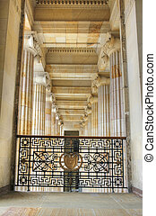 Archway of Capitol in Bogota - Archway with pilars and...