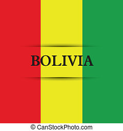 Bolivia text on special background allusive to the flag
