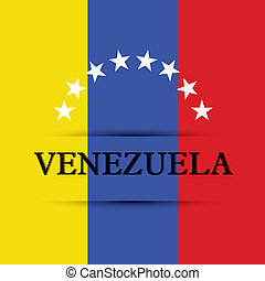 Venezuela text on special background allusive to the flag