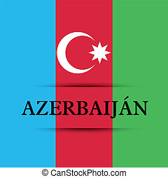 Azerbaijan text on special background allusive to the flag