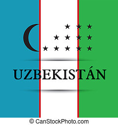 Uzbekistan text on special background allusive to the flag