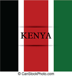 Kenya text on special background allusive to the flag