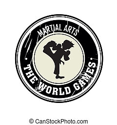 Martial Arts - Dirty Martial arts symbol on white background