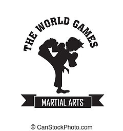 Martial Arts symbol on white background