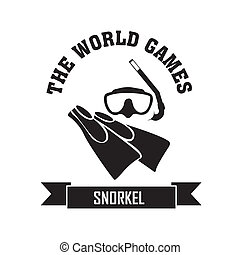 Snorkel symbol on white background