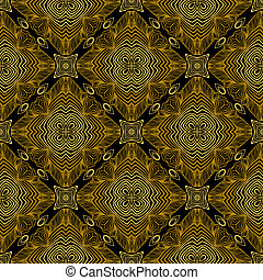 Linear pattern in art deco style in old gold - Linear...
