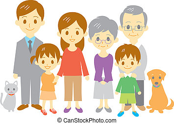 FAMILY mother, father, daughter, son, grand mother, grand...