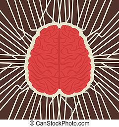 complex connection of brain stock vector