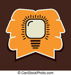 both men think same concept stock vector
