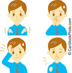Disease Symptoms 01, man - Disease Symptoms 01, fever and...