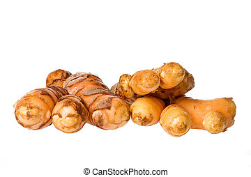 Tumeric Macro - Isolated macro image of tumeric