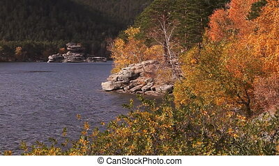 Autumn Landscape Burabay - Autumn view of the rock...