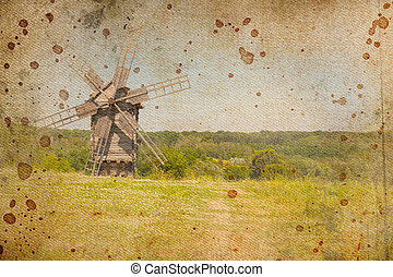 Retro image of Medieval Windmill