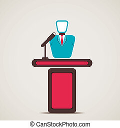 entrepreneur or lecturer stock vector