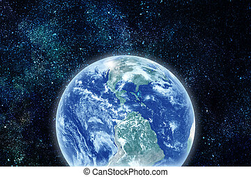 realistic planet earth in space. Elements of this image...