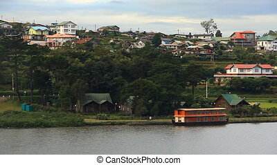 City Landscape Nuwara Elia - City landscape with people...