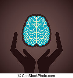 secure your brain concept stock vector