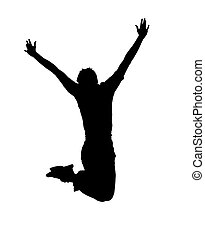 jump - Young guy in jump on white background