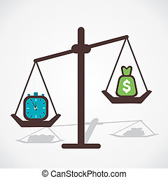 time is more important than money stock vector