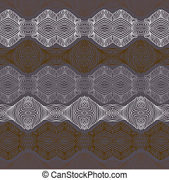 Retro pattern with linear shapes in vintage style