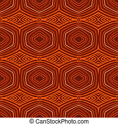 Retro pattern with oval shapes in 1950s style.