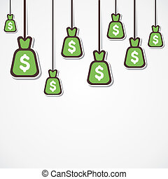 dollar currency background - dollar currency bag hang...