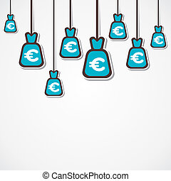 euro currency bag background