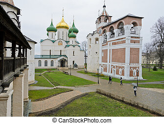 Monastery of Saint Euthymius in Suzdal, Russia....