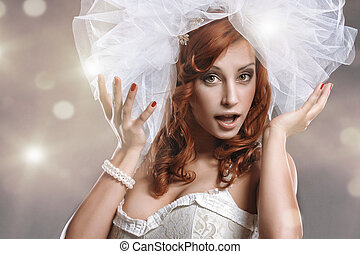 Bride portraitWedding dress