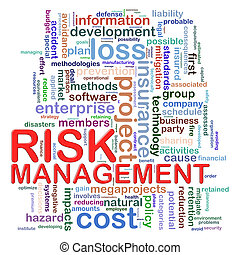 Risk management word tags - Illustration of Worldcloud word...
