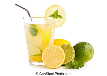 glass of lemon juice, lemonade