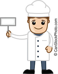 Chef with White Banner