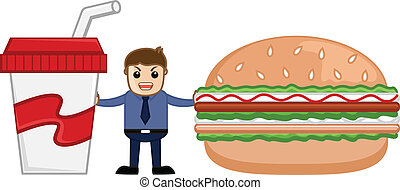 Lunch Time - Cartoon