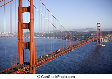 Golden gate bridge in San Fransisco Horizontal shot