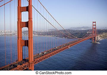 Golden gate bridge in San Fransisco. Horizontal shot