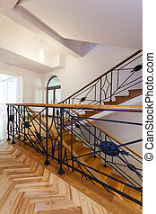 Staircase banister - Decorative metal banister of the...