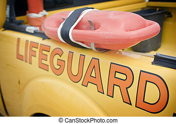 Lifeguard vehicle - Close up shot of a lifeguard vehicle.