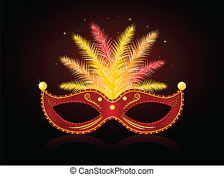 Carnival Mask - Illustration of shiny carnival mask.