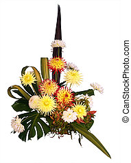 Dahlia Arrangement isolated with clipping path