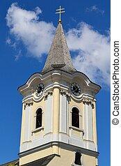 Kirchturm in Burgenland - Kirchturm im burgenlaendischen...