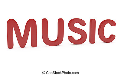 Word Music isolated on white